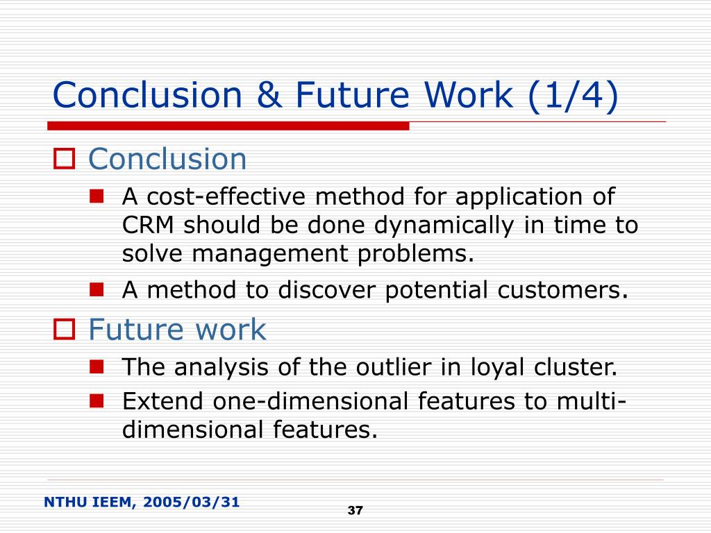 Conclusion & Future Work (1/4)