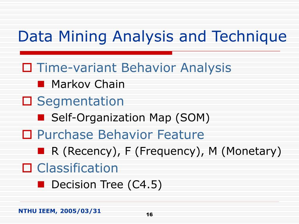 Data Mining Analysis and Technique