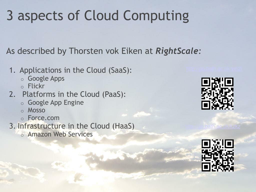 3 aspects of Cloud Computing