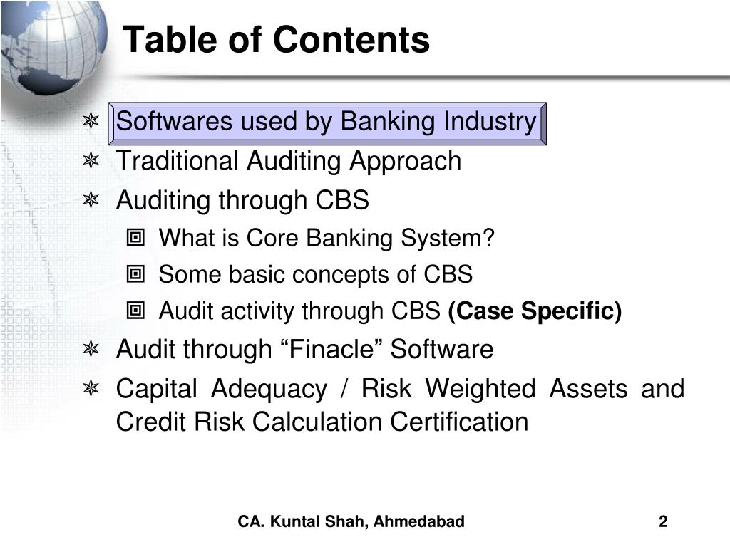 PPT - Bank Branch Audit under Core Banking System PowerPoint
