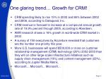 one glaring trend growth for crm