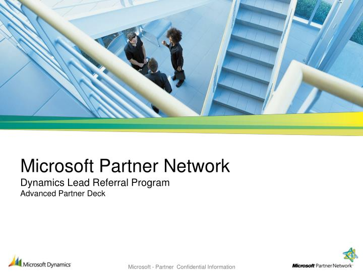 Microsoft partner network dynamics lead referral program advanced partner deck