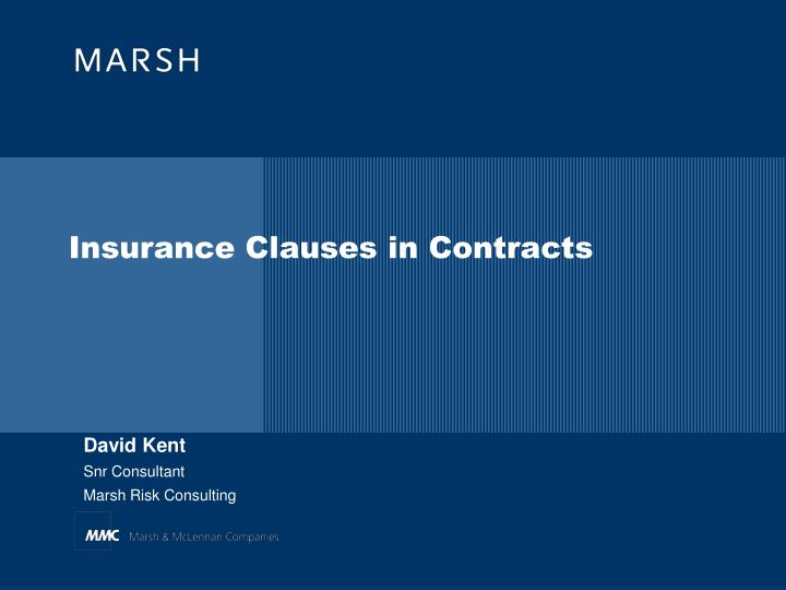 insurance clauses in contracts n.