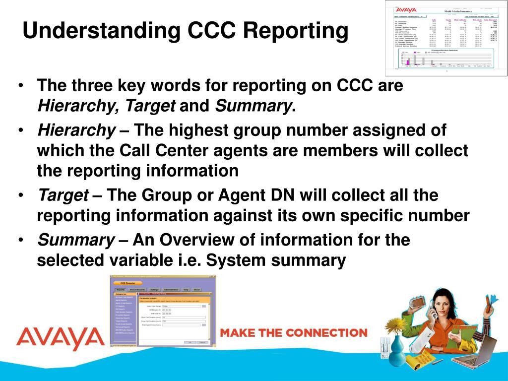 Understanding CCC Reporting