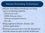 internet networking technologies