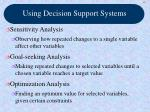 using decision support systems64