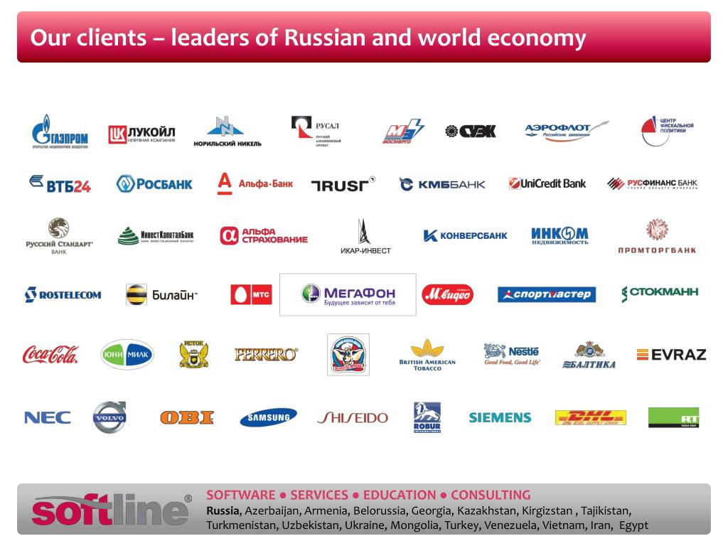 Our clients – leaders of Russian and world economy