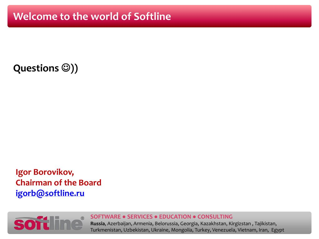 Welcome to the world of Softline