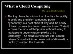 what is cloud computing the open cloud manifesto