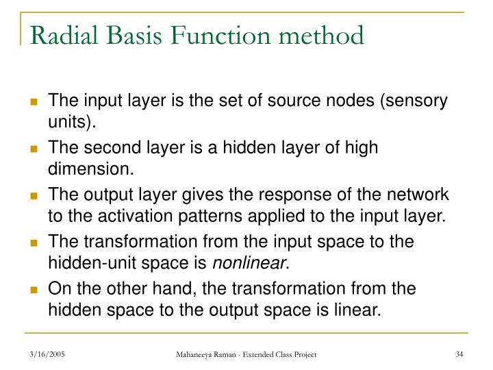 Radial Basis Function method