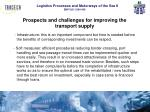 prospects and challenges for improving the transport supply