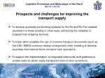 prospects and challenges for improving the transport supply3