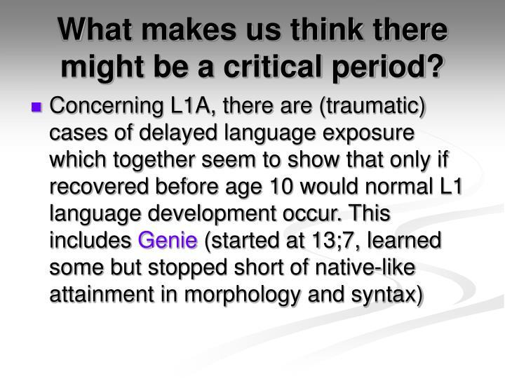 critical period for language development