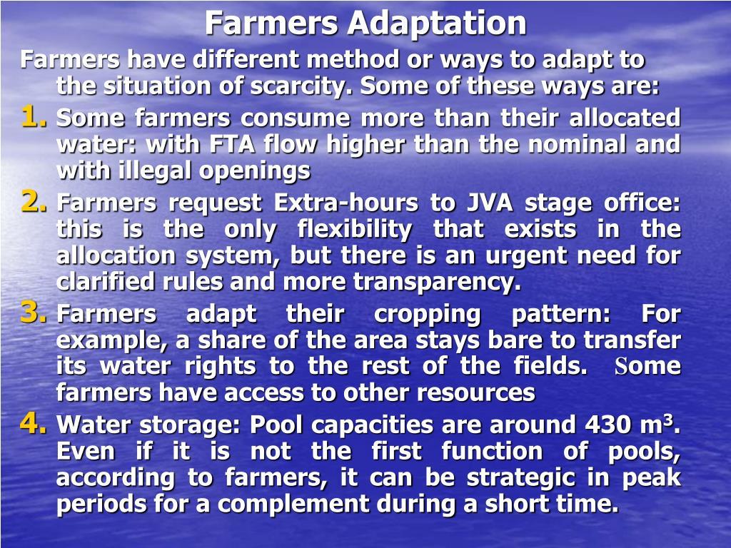Farmers Adaptation