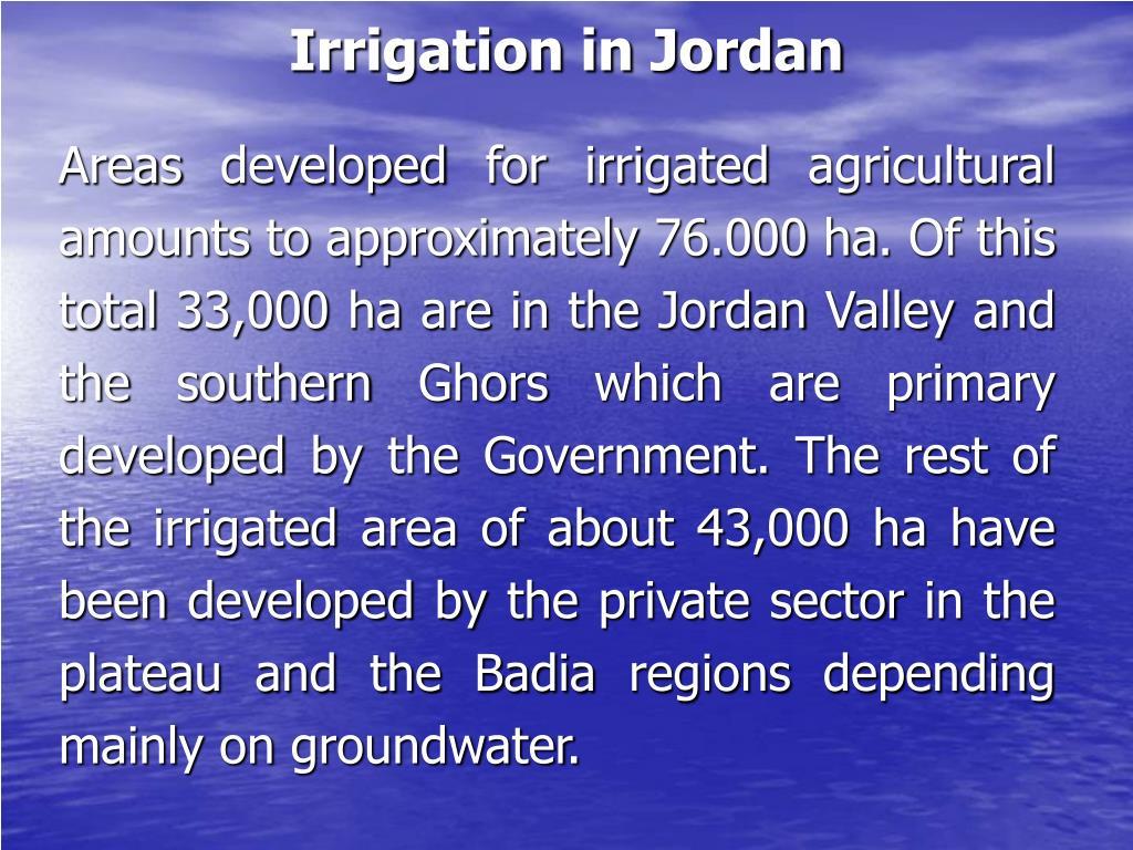 Irrigation in Jordan
