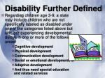 disability further defined