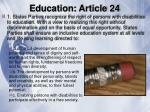 education article 24