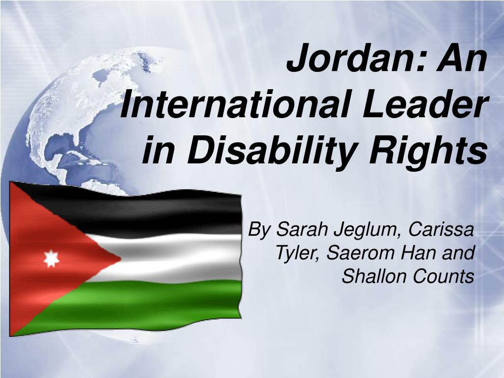 jordan an international leader in disability rights l.