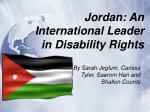 jordan an international leader in disability rights