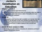 jordan s constitution on education