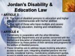 jordan s disability education law