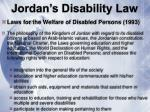 jordan s disability law