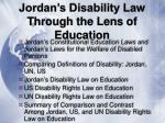 jordan s disability law through the lens of education