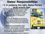 states responsibilities