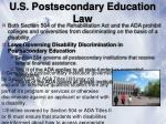u s postsecondary education law