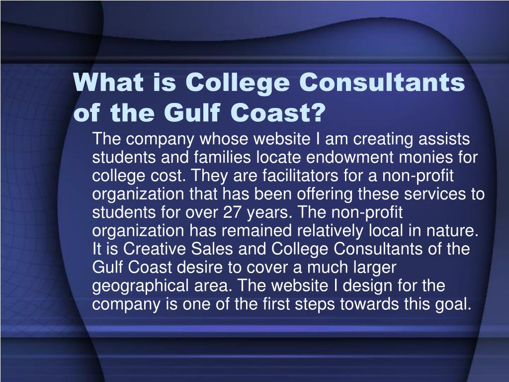 What is College Consultants of the Gulf Coast?