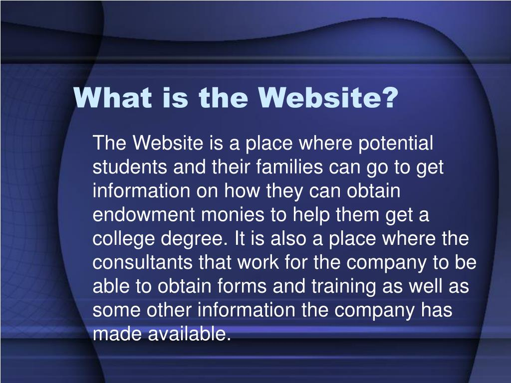 What is the Website?