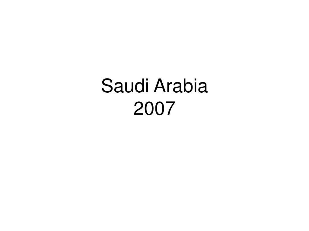 saudi arabia 2007 l.