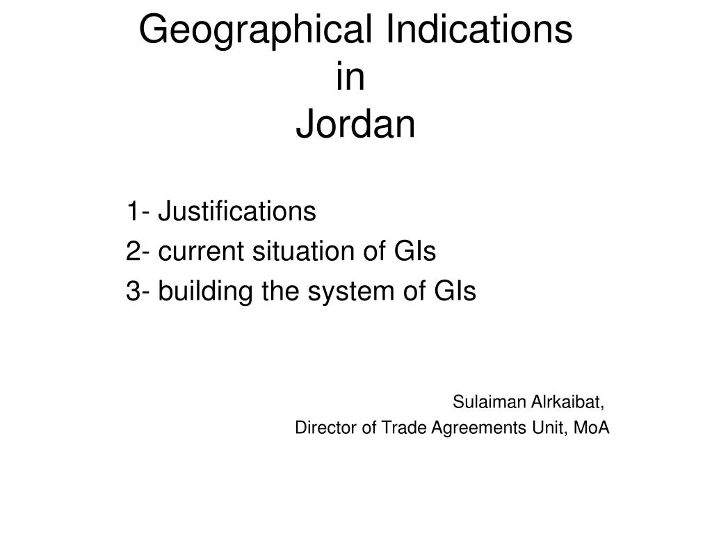 geographical indications in jordan l.