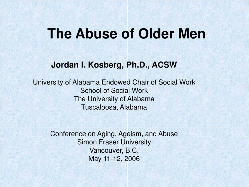 The Abuse of Older Men