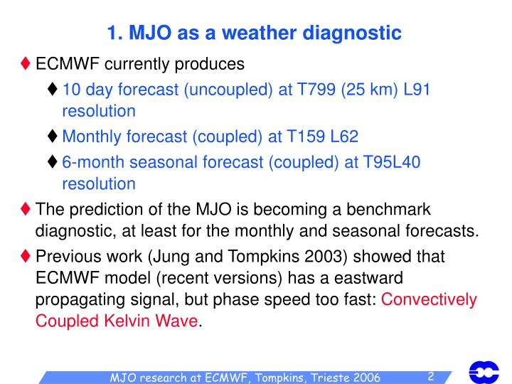 1 mjo as a weather diagnostic