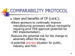 comparability protocol51