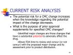 current risk analysis38