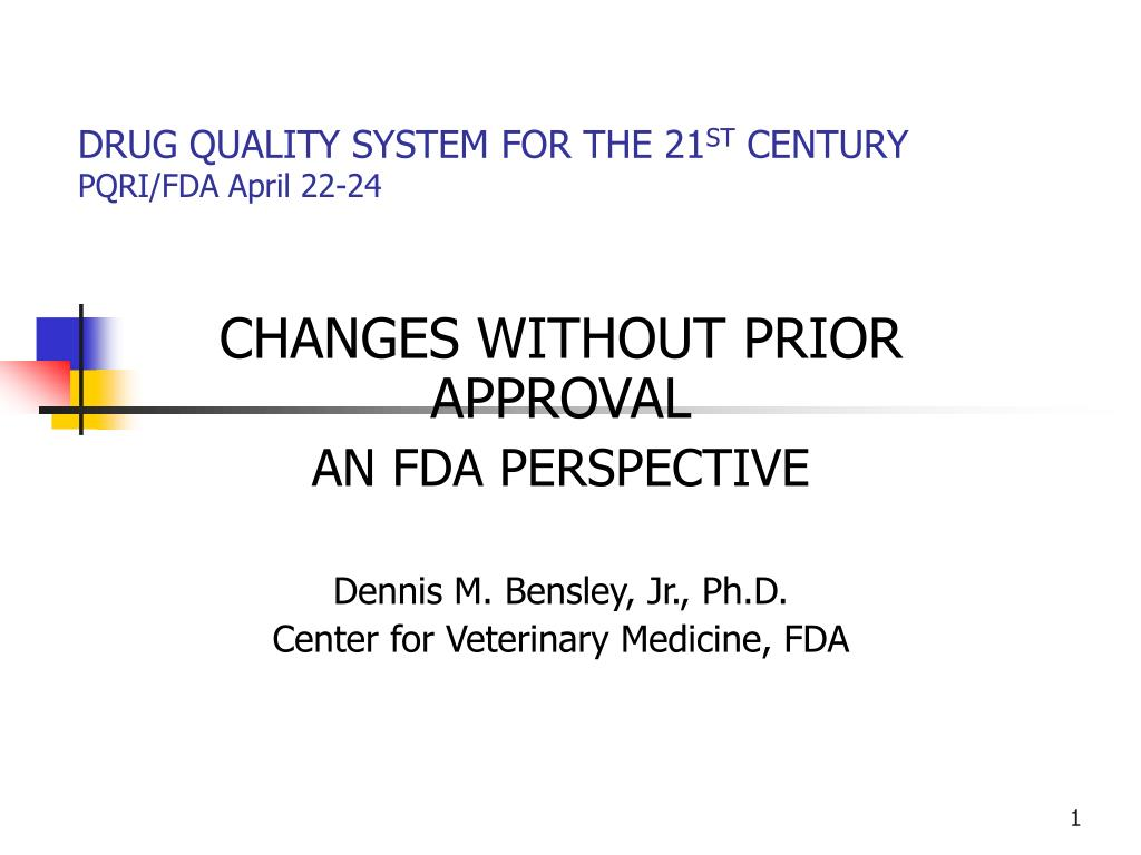 drug quality system for the 21 st century pqri fda april 22 24 l.