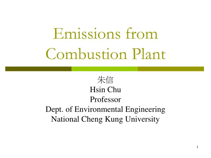 emissions from combustion plant n.