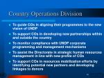 country operations division