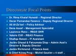 directorate focal points