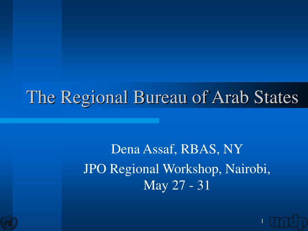 the regional bureau of arab states l.