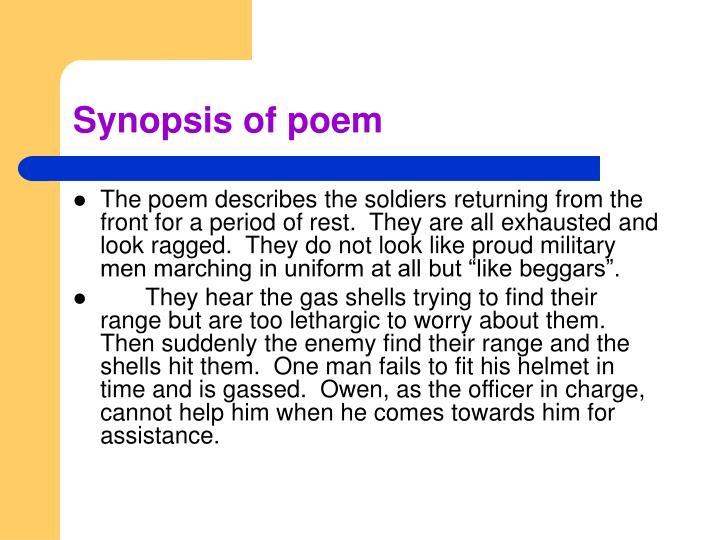 war and the pity of war in dulce et decorum est by wilfred owen Wilfred owen's poem - dulce et decorum est - with notes - the gas poem - about a gas attack in the first world war.