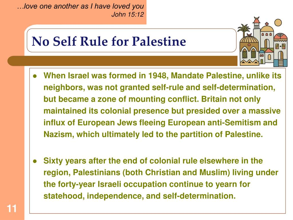 No Self Rule for Palestine
