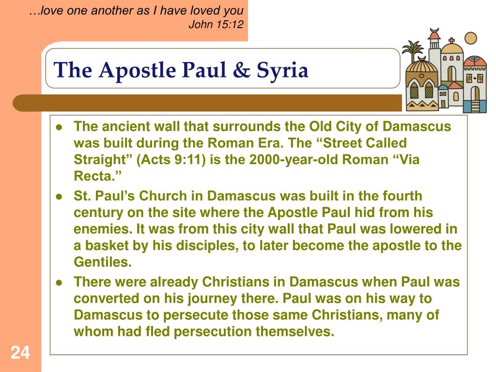 The Apostle Paul & Syria