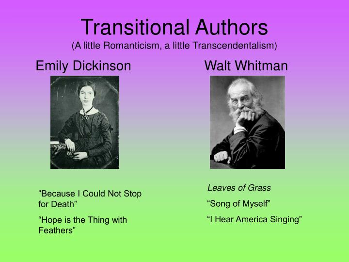 emily dickinson walt whitman compare contrast Free essay: comparing walt whitman and emily dickinson the lives of walt whitman and emily dickinson have many similarities and differences here, we will.