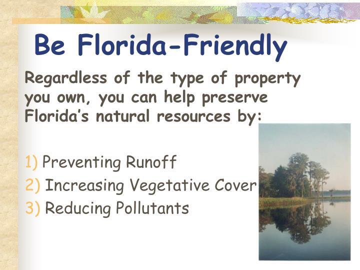 Be Florida-Friendly