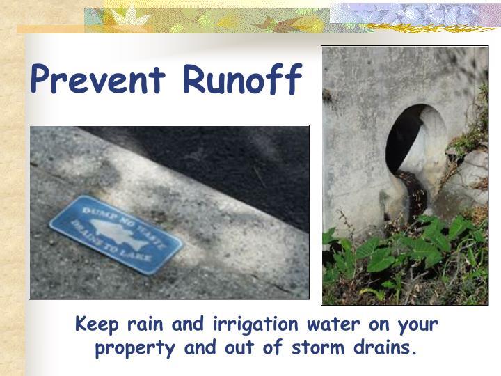 Prevent Runoff