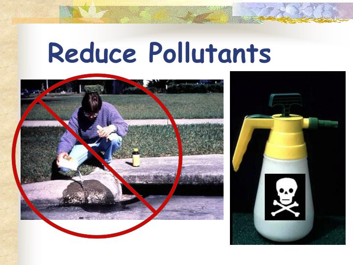 Reduce Pollutants