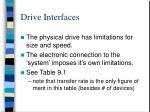 drive interfaces
